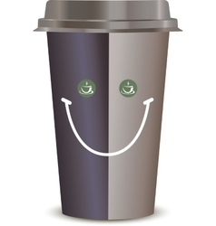 Coffee Cup with a smile Isolated on a white vector