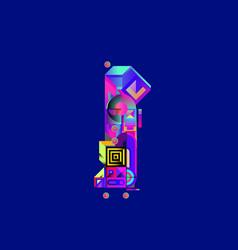 Colorful alphabet font letter i for logo vector