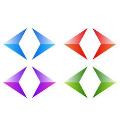 Colorful arrows arrowheads shiny glossy arrow vector