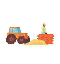 construction flat icon vector image