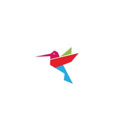 creative colorful hummingbird logo vector image