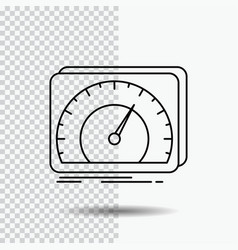 Dashboard device speed test internet line icon on vector
