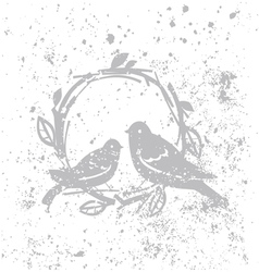 Design with birds vector image