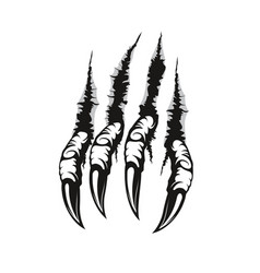 Dragon claw marks and scratches scary monster paw vector