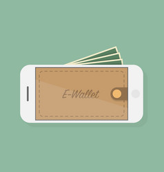 e wallet vector image