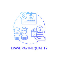 Erase pay inequality concept icon vector
