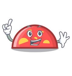 Finger semicircle mascot cartoon style vector