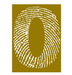 Fingerprint Alphabet No 0 vector