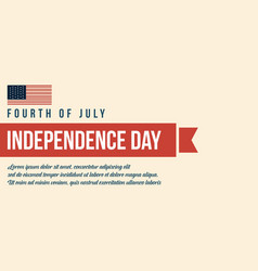 flat independence day background vector image