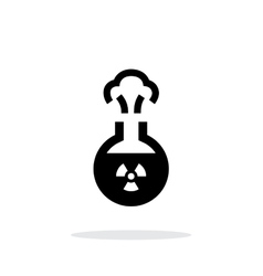 Florence flask with radiation simple icon on white vector image