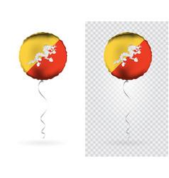 foil balloons in national flag bhutan vector image