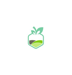fresh nature organic logo vector image