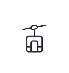 Funicular line icon on white vector