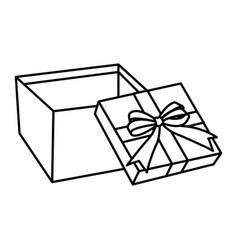 giftbox open isolated vector image