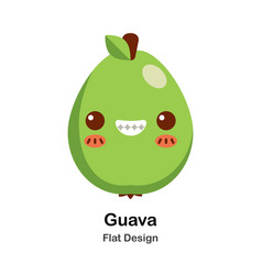 Guava flat icon vector