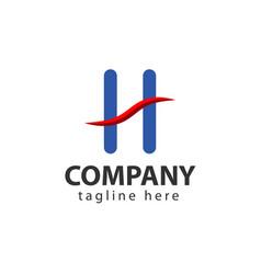 H company logo template design vector
