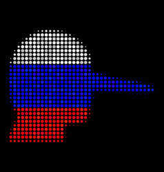 Halftone russian lier icon vector
