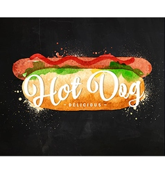 Hot dog chalk vector