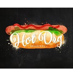 Hot dog chalk vector image
