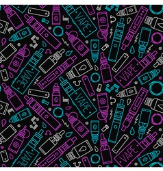 icons of vape and accessories seamless pattern vector image
