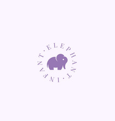Infant elephant abstract sign symbol vector