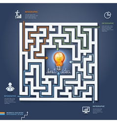 Labyrinth business concept vector