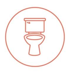 Lavatory bowl line icon vector