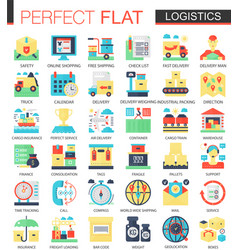 logistics transportation complex flat icon vector image
