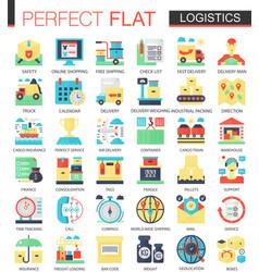 Logistics transportation complex flat icon vector