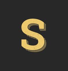 logo letter s gold vintage vector image