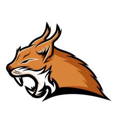 Lynx sign mascot vector