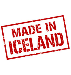 Made in iceland stamp vector