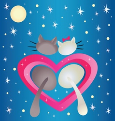 Male cat and pussycat vector