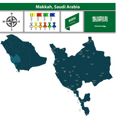 map of makkah saudi arabia vector image