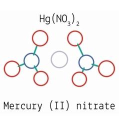 Mercury II nitrate HgN2O6 molecule vector image