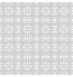 Modern 3d block technical style seamless vector image