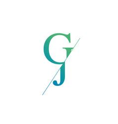 Monogram letters j g logo design template vector
