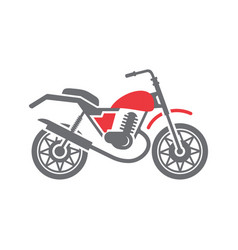 Motorcycle cross icon on white background for vector