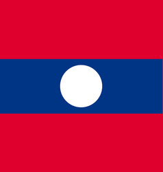 national official flag of laos vector image