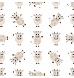 Pattern with cute cows vector