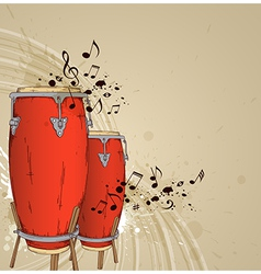 Red drums vector