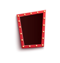 retro red frame in form quadrangle with shining vector image