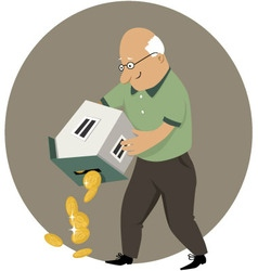 Reverse mortgage vector image