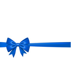 ribbon bow for gift isolated white background vector image