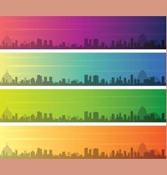 Rio de janeiro multiple color gradient skyline vector