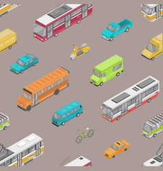 seamless pattern with urban traffic or automobile vector image