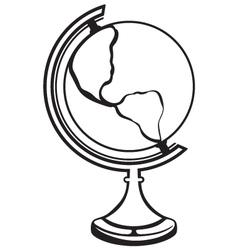 Silhouette globe vector