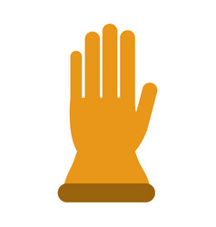 Single glove icon image vector
