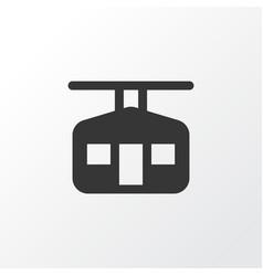 Ski cabin icon symbol premium quality isolated vector