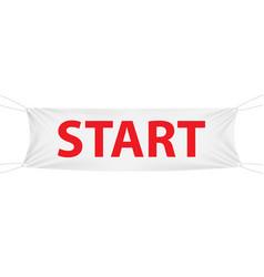 start white textile banner template vector image